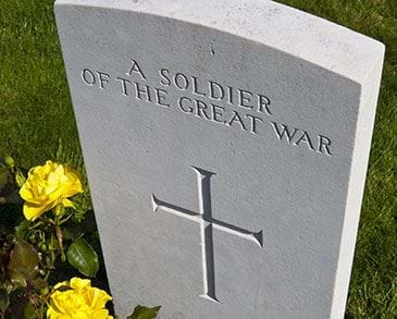 Great war gravestone