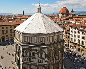 Baptistery and the City of Florence