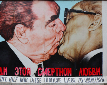 Berlin Wall Brezhnev and Honecker